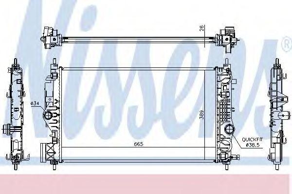 Радиатор охлаждения NISSENS 630764