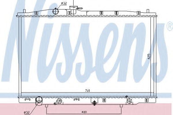 Радиатор охлаждения NISSENS 681393