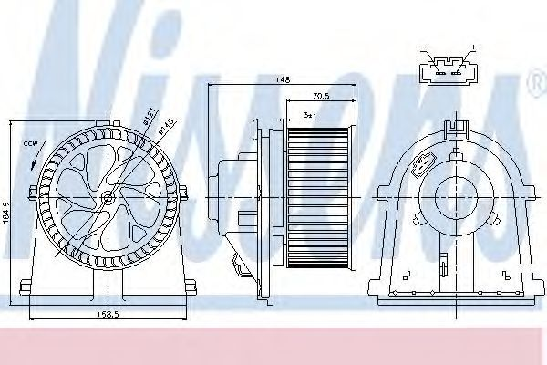 Вентилятор салона NISSENS 87022