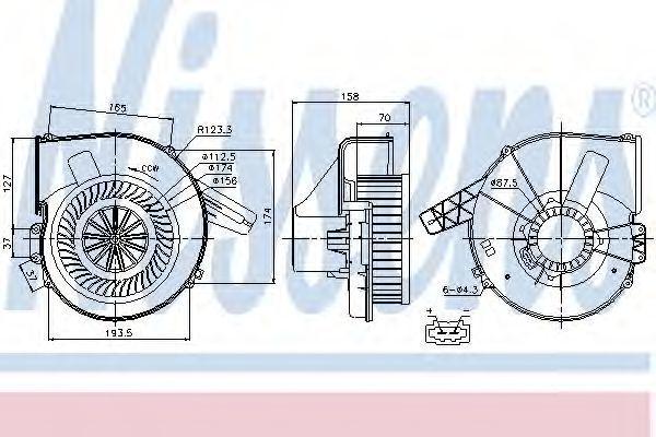 Вентилятор салона NISSENS 87028