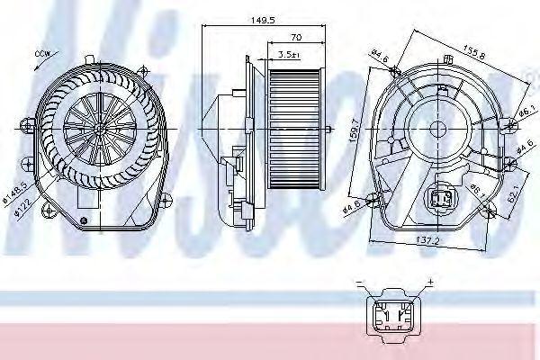 Вентилятор салона NISSENS 87030