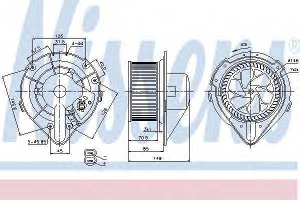 Вентилятор салона NISSENS 87064