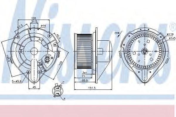 Вентилятор салона NISSENS 87066