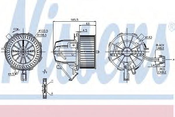 Вентилятор салона NISSENS 87075