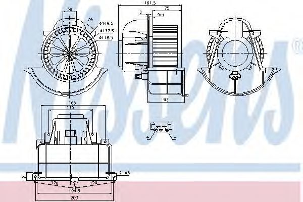 Вентилятор салона NISSENS 87139