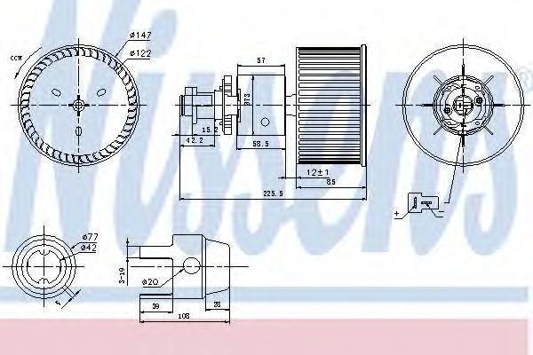 Вентилятор салона NISSENS 87149
