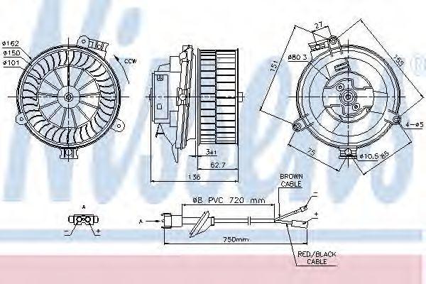 Вентилятор салона NISSENS 87153