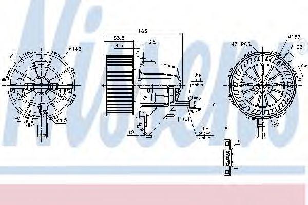 Вентилятор отопителя NISSENS 87215