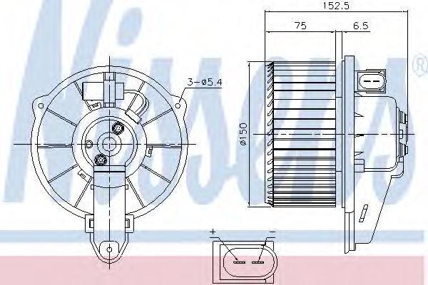 Вентилятор салона NISSENS 87221