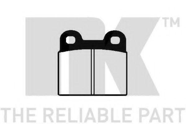 Комплект тормозных колодок, дисковый тормоз NK 229905