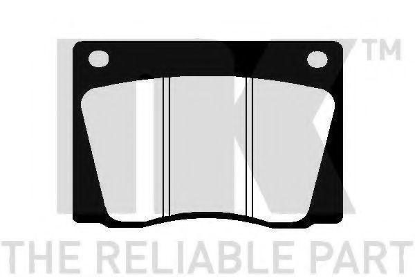 Комплект тормозных колодок, дисковый тормоз NK 229933