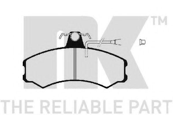Колодки тормозные передние NK 229940