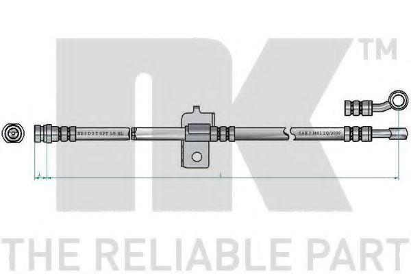 Шланг тормозной NK 853495