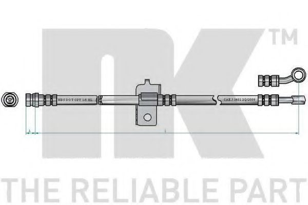 Шланг тормозной NK 853496