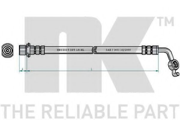 Шланг тормозной NK 8545179