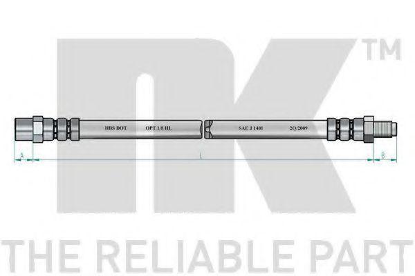 Шланг тормозной NK 859901