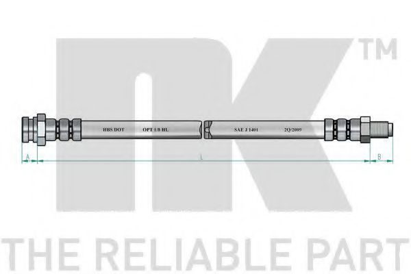 Тормозной шланг NK 853018