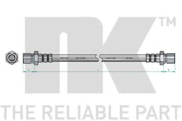 Шланг тормозной NK 853733