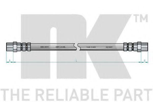 Шланг тормозной NK 854709