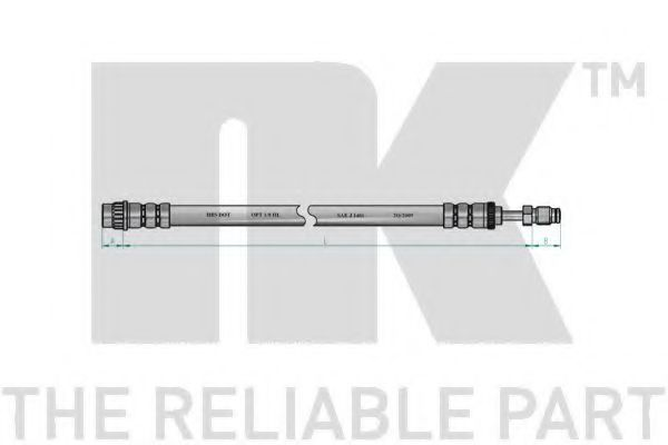 Шланг тормозной NK 8523102