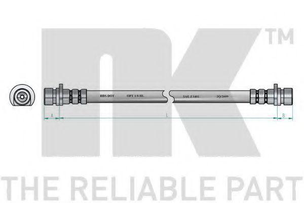 Шланг тормозной NK 852620