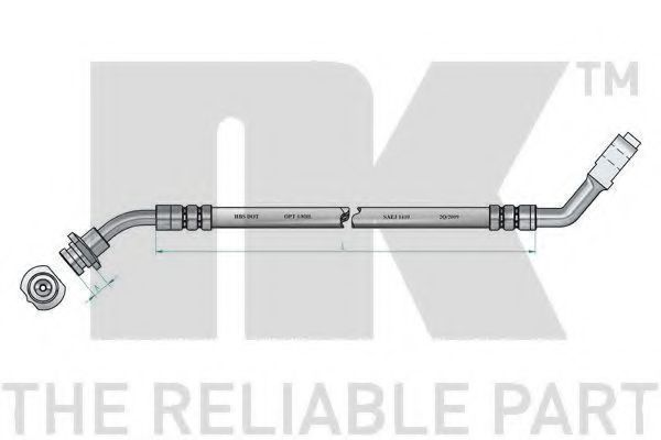 Тормозной шланг NK 852281