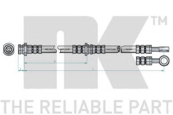Шланг тормозной NK 854819