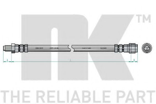 Шланг тормозной NK 852512