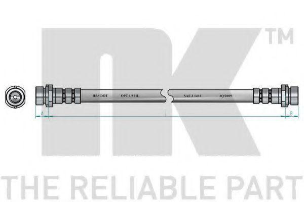 Шланг тормозной NK 8525121