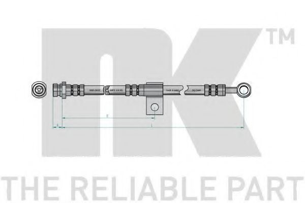 Шланг тормозной NK 853413