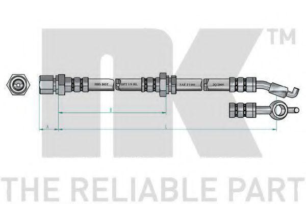 Шланг тормозной NK 855022