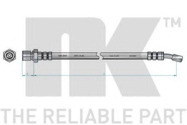 Шланг тормозной NK 855002