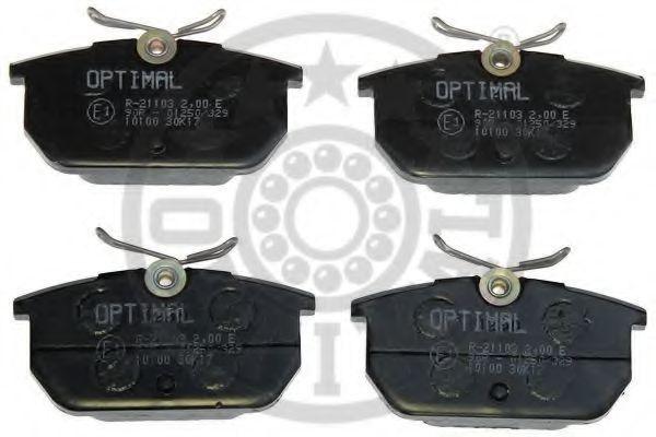 Колодки тормозные OPTIMAL 10100