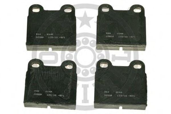Комплект тормозных колодок, дисковый тормоз OPTIMAL 2149