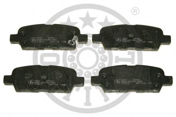 Колодки тормозные OPTIMAL 87601