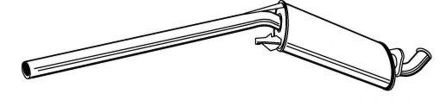 Глушитель средний WALKER 21204