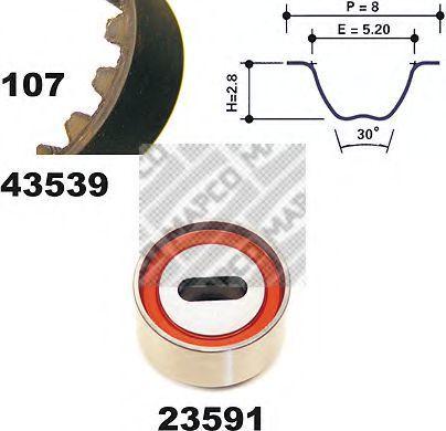 Комплект ремня ГРМ MAPCO 23539