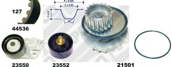 Водяной насос + комплект зубчатого ремня MAPCO 41536
