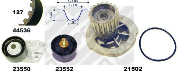Водяной насос + комплект зубчатого ремня MAPCO 415361