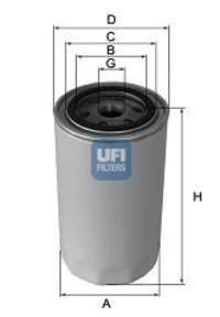 Фильтр масляный UFI 23.102.02