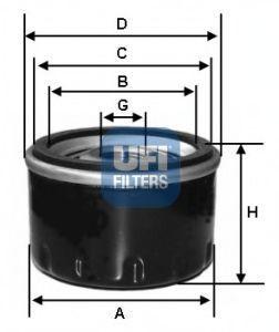 Фильтр масляный UFI 2312902