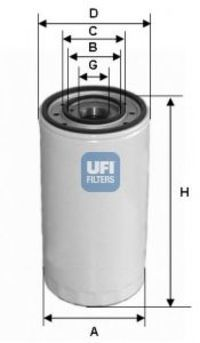 Фильтр масляный UFI 2330300