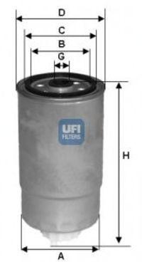 Фильтр топливный UFI 2435101