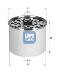 Фильтр топливный UFI 24.360.00