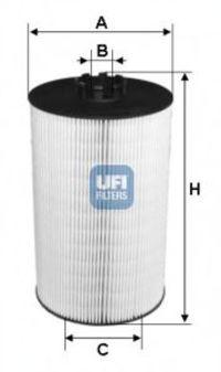 Фильтр масляный UFI 2500700