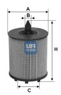 Фильтр масляный UFI 2502400
