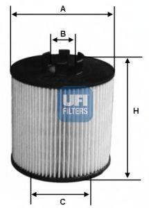 Фильтр масляный UFI 2506400