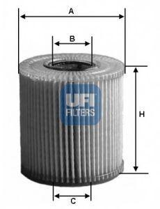 Фильтр масляный UFI 2506900