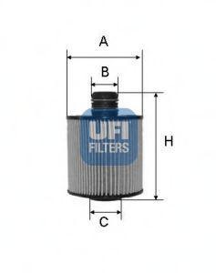 Фильтр масляный UFI 25.083.00