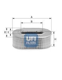 Воздушный фильтр UFI 2758000